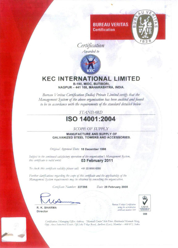 ISO-14001-2004-Nagpur-Plant-Certificate