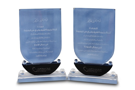 8. Excellence in Performance & Quality Awards from Saudi Electricity Company