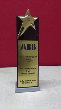 Collaborative Supplier Award at the Indian Supplier Meet, 2017
