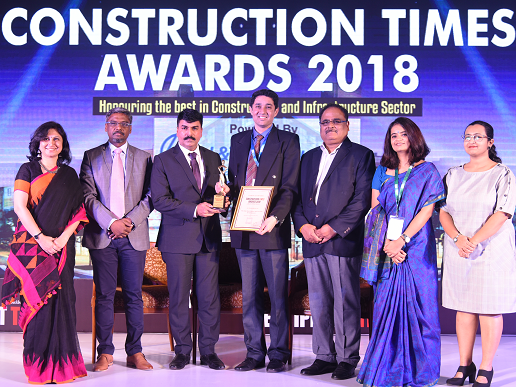 "KEC wins the Best CSR Activity of the Year 2018 for ""Pehlay Akshar"" at the Construction Times Awards 2018"