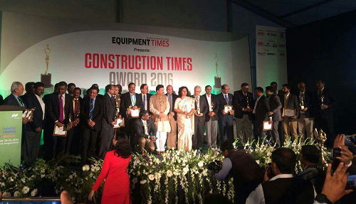 "KEC International wins the ""Best Executed Power Project Of The Year"" for its Indo-Bangladesh Transmission Line project at the Construction Times Award 2016"