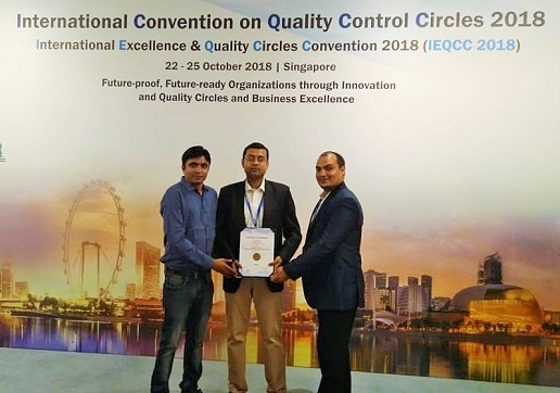 Gold Award for KEC's Cables Vadodara team at the International Convention on Quality Control Circles
